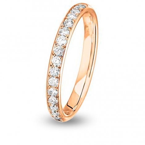 Alliance diamant Jonc Parisien demi tour Or Rose - 0.34 ct - Irina