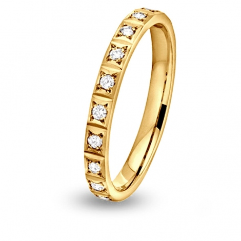 Alliance diamant Nikki demi tour Or Jaune - 0.1 ct - Erina