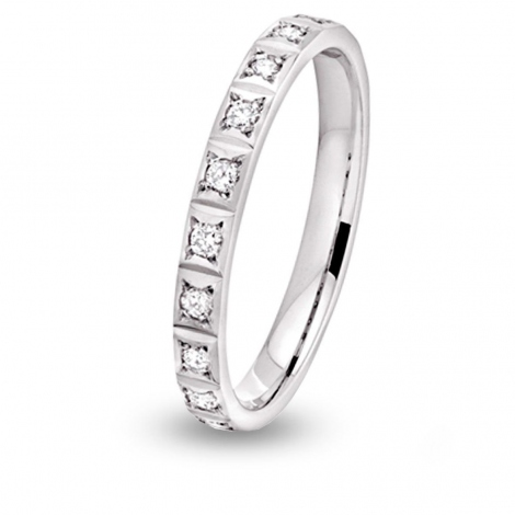 Alliance diamant Nikki tour complet Or Jaune - 0.3 ct - Douceur