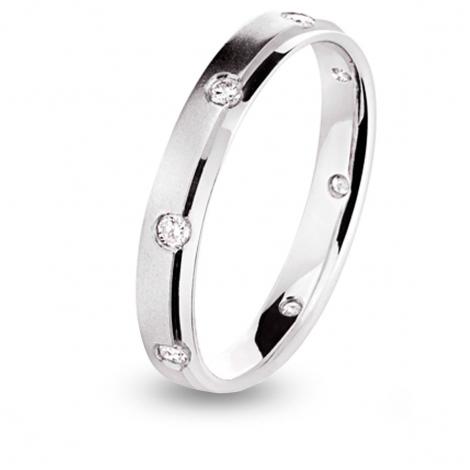 Alliance diamant Platine Frisco Tour complet Platine 950 - 0.16 ct - Alyona