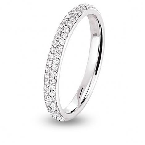 Alliance diamant platine tour complet jonc parisien Platine 950 - 0.54 ct - Câline