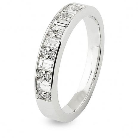 Alliance Diamant Princesse Lorie en Or Blanc