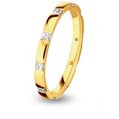 Alliance diamant Princesse Tour complet Or Jaune - 0.4 ct - Paola