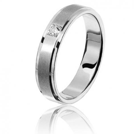 Alliance diamant Sanremo 0.05ct 5 mm Platine 950 Lucia - 80100005PT