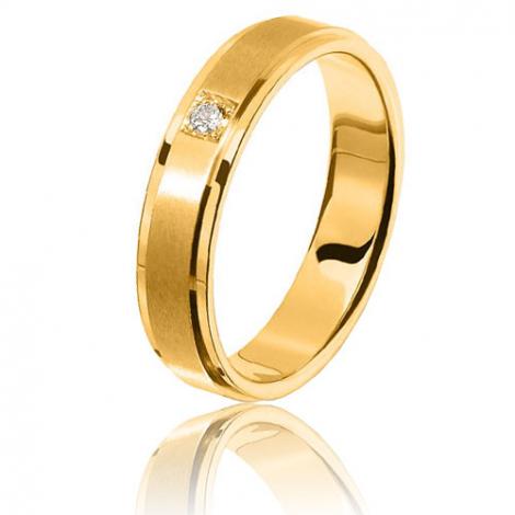 Alliance diamant Sanremo 0.05ct en or jaune Or Jaune - 0.05 ct - Alissa