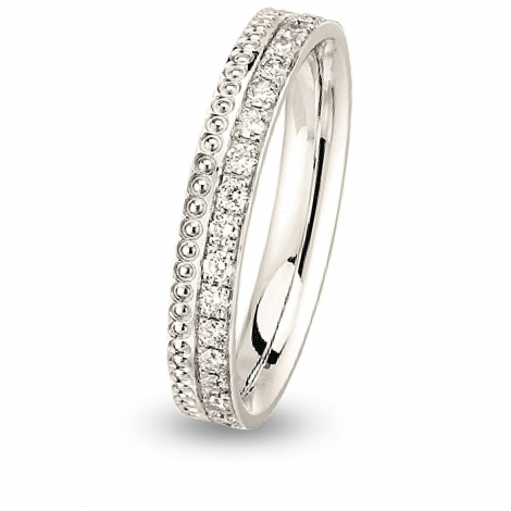 Alliance diamant  Together Seville Forever GM 1/2 Tour Or Blanc - 0.27 ct - Marjorie