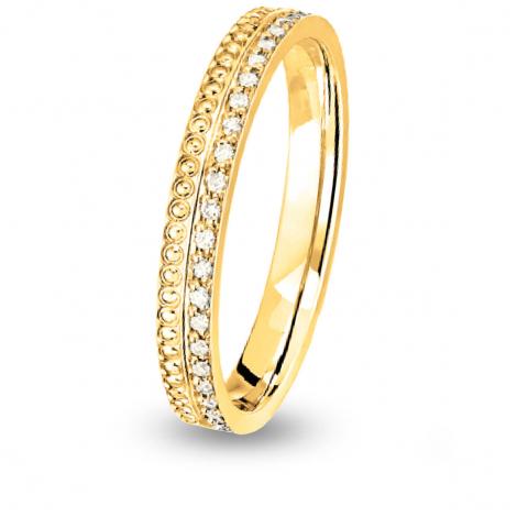 Alliance diamant  Together Seville Forever PM 1/2 Tour Or Jaune - 0.12 ct - Artémis