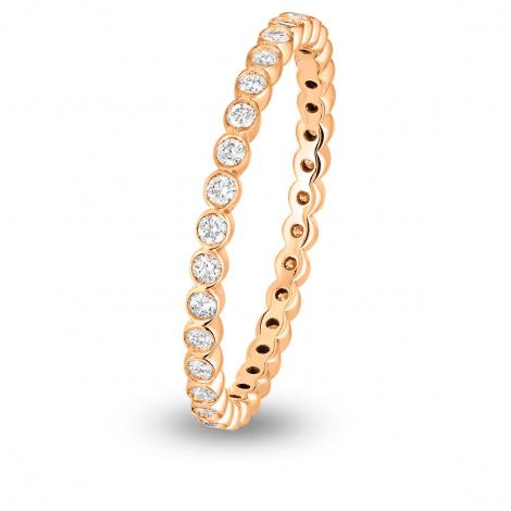 Alliance diamant Tour Complet ELDA FOREVER Or Rose - 0.33 ct - Leina