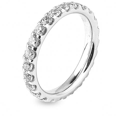 Alliance diamant tour complet platine serti griffes 1.5 ct Nolwenn en Platine 950 - 7B4150D-PT1