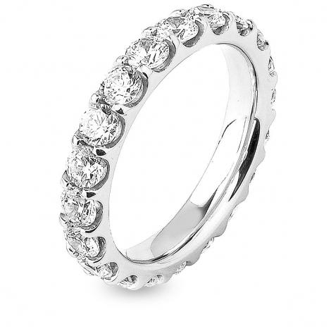 Alliance diamant tour complet platine serti griffes 2.5 ct Magnificence en Platine 950 - 7B4250D-PT1