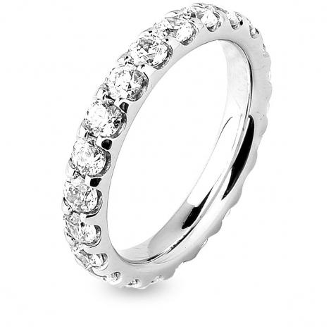 Alliance diamant tour complet platine serti griffes 2 ct Lisa en Platine 950 - 7B4200D-PT1