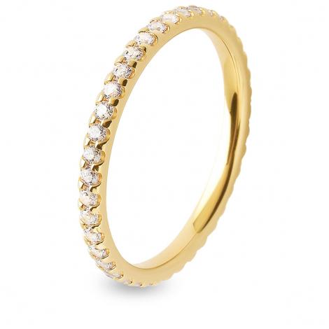 Alliance diamant tour complet serti griffes 0.5 ct  en Or Jaune - Anissa