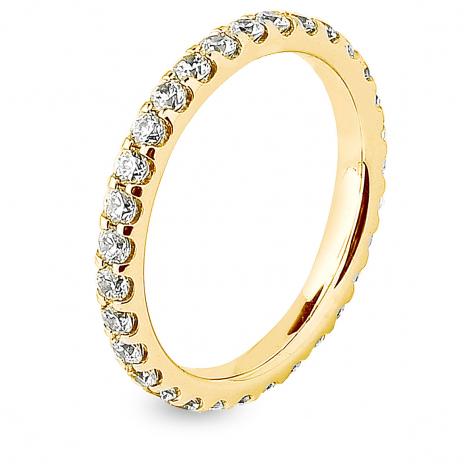 Alliance diamant tour complet serti griffes 1.25 ct  en Or Jaune - Enchantée