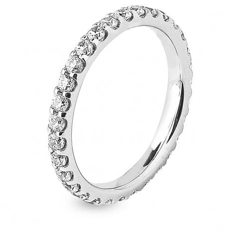 Alliance diamant tour complet serti griffes 1.25 ct Johanna en Platine 950 - 7B4125D-PT1