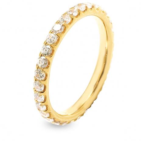 Alliance diamant tour complet serti griffes 1 ct Serena en Or Jaune - 7B4100WD