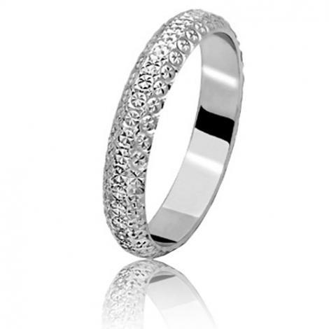 Alliance Diamanteka en or blanc - 3.5 mm  3.5 mm en Or Blanc - Eclatante