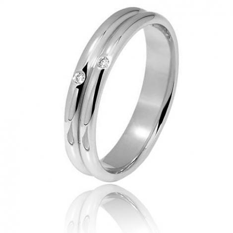 Alliance diamants 0.02ct de 4 mm en platine 4 mm Platine 950 Dalia - 80020002PT
