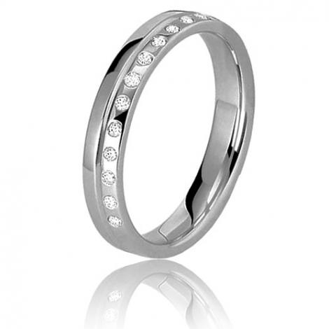 Alliance diamants 0.15ct en platine large de 3.5 mm 3.5 mm Platine 950 Dream - 60030015PT