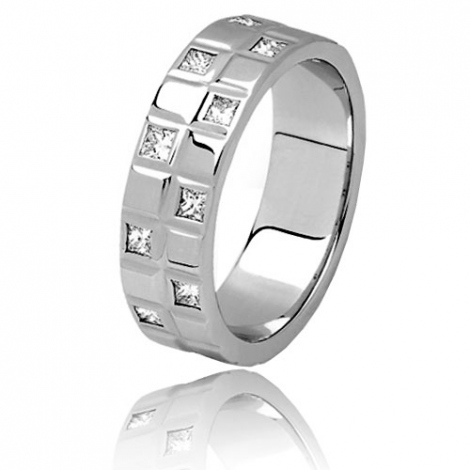 Alliance diamants Aquarius 0.40 ct en or blanc Or Blanc - 0.4 ct - Lucie