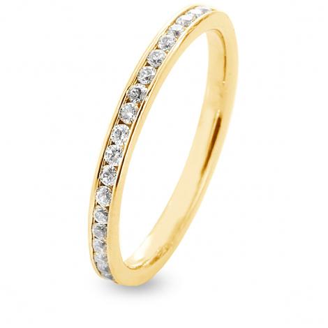 Alliance Diamants Prestige Tour complet serti Rail 0.5 ct Maria en Or Blanc