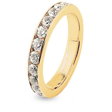 Alliance Diamants Prestige Tour complet serti Rail 1.25 ct Delphes en Or Jaune