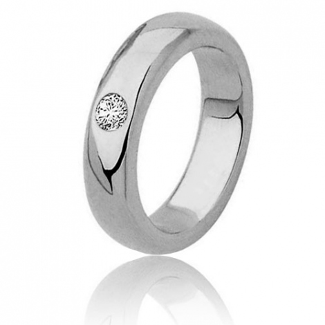 Alliance diamants  superbe 0.15ct large de 5 mm or blanc Or Blanc - 0.15 ct - Emilie