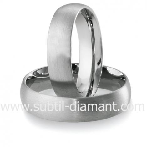 Alliance  en Or Blanc 5.5 mm - Charme - 04122
