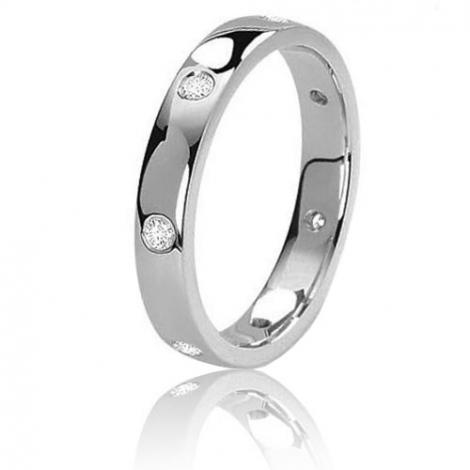 Alliance Fidelis  en or blanc sertie de diamants 0.21 ct Or Blanc - 0.21 ct - Flavie
