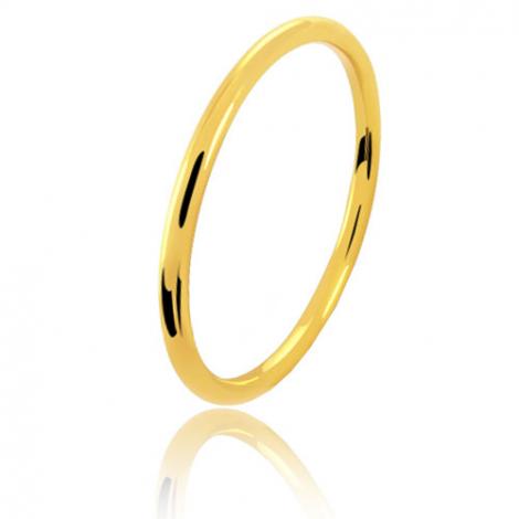 Alliance fil rond en or jaune large de 1 mm Audrey-FILROND1J