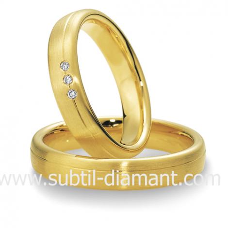 Alliance Hermione en Or Jaune et diamants 4.5 mm - 04023