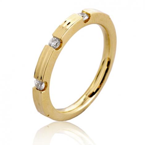 Alliance Isabella en Or Jaune et diamants  - 7BRS2403D