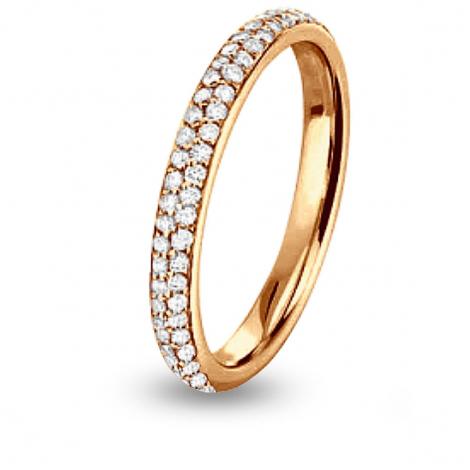 Alliance Jonc Parisien diamant tour complet Or Rose - 0.27 ct - Jeanne