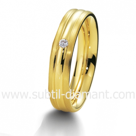 Alliance Kélia en Or Jaune et diamants 4.5 mm - 04017