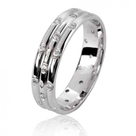 Alliance Margot en Or Blanc et diamants  - 77115WD
