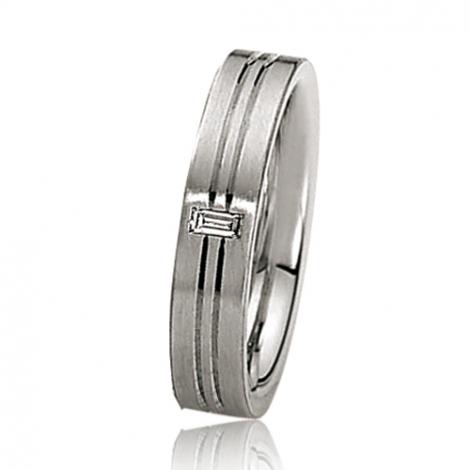 Alliance mariage 4.5 mm - diamant -