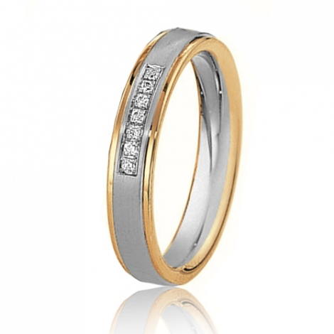 Alliance mariage 4 mm - diamant -