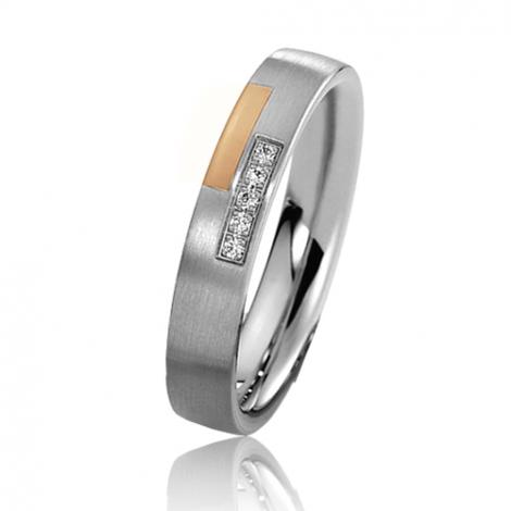 Alliance mariage 4 mm - diamant -