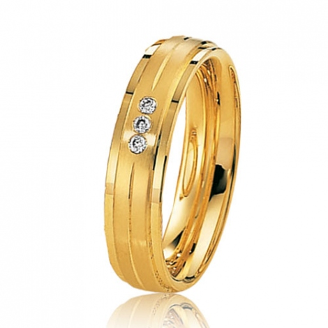 Alliance mariage 5 mm - diamant -