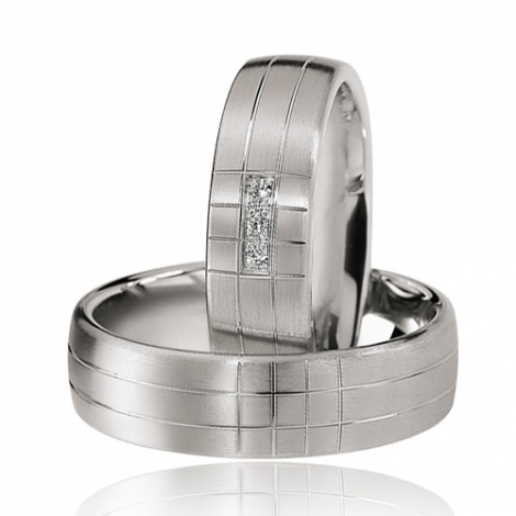Alliance mariage 6.5 mm - diamant -