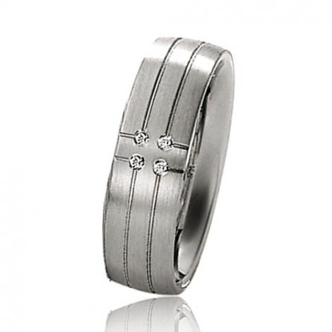 Alliance mariage 6 mm - diamant -