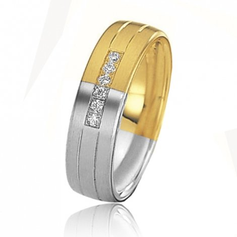 Alliance mariage 6 mm - diamant -