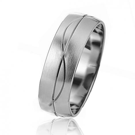 Alliance mariage Slim 6 mm -Sérénité - 81531