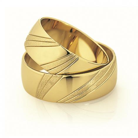 Alliance mariage Slim 7 mm -Rosemary - 81525
