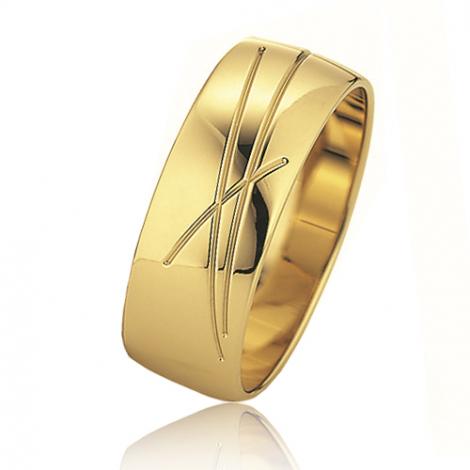 Alliance mariage Slim 7 mm -Usha - 81523