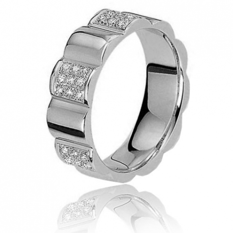 Alliance Mascaret 0.27ct  de diamant en or blanc Or Blanc - 0.27 ct - Dalia