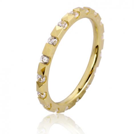 Alliance Mélina en Or Jaune et diamants  - 7BR5050D