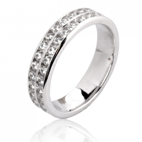 Alliance Orianna en Or Blanc et diamants  - 72B2150WD