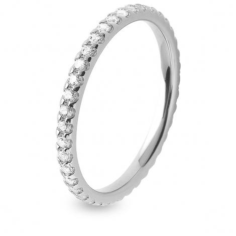 Alliance Platine diamant tour complet serti griffes 0.5 ct Cassiopée en Platine 950 - 7B4050D-PT1