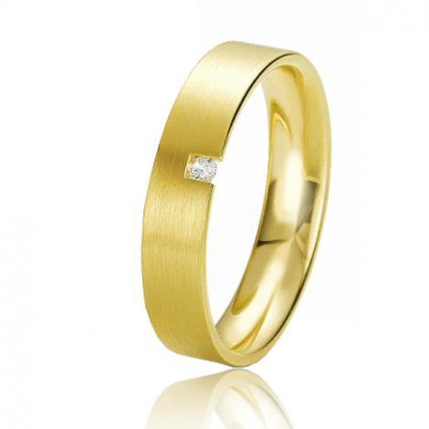 Alliance Rainbow Audrey 4.5 mm Or Jaune diamant
