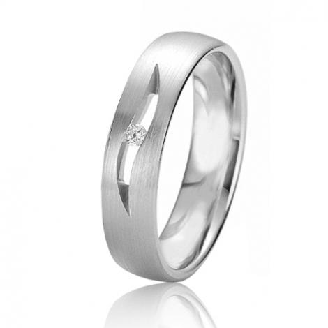 Alliance Rainbow Cienna 5 mm Platine 950 diamant